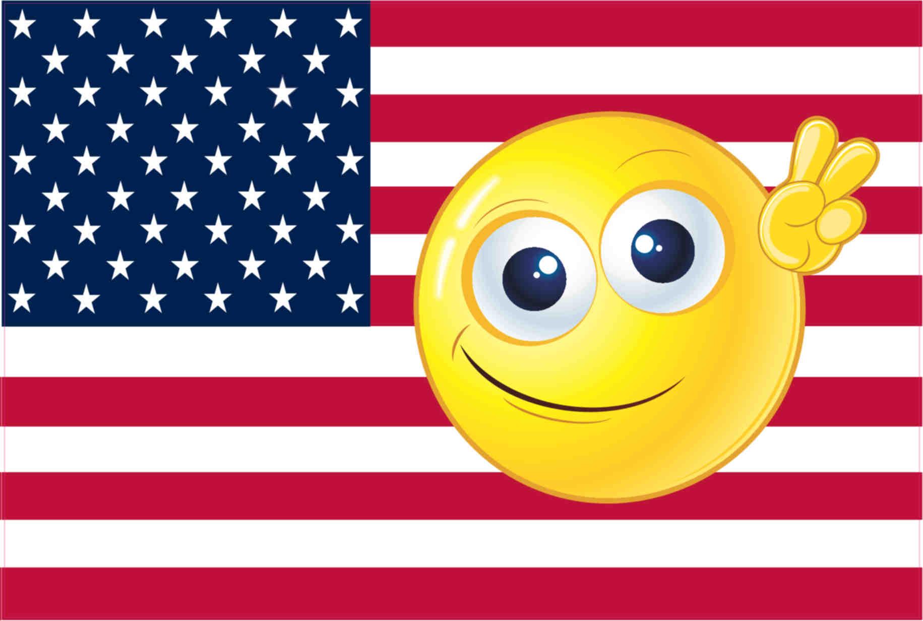 6inx4in Emoji American Flag Magnet Vinyl Magnetic ...