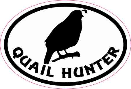 Oval Quail Hunter Sticker