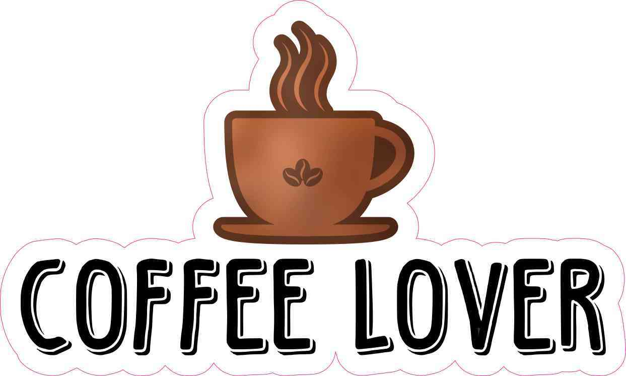 6in X 3 5in Coffee Lover Sticker Vinyl Cafe Cup Decal Car