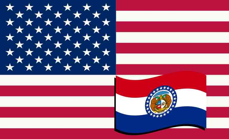 American Flag Car Magnets
