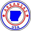 State Circle Arkansas Sticker