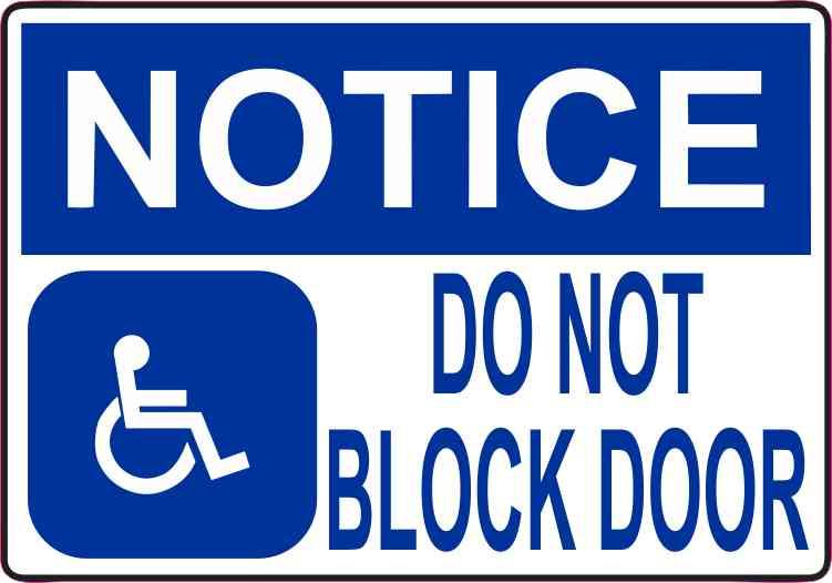 Do Not Block Door : Inx in notice do not block door magnet vinyl magnetic