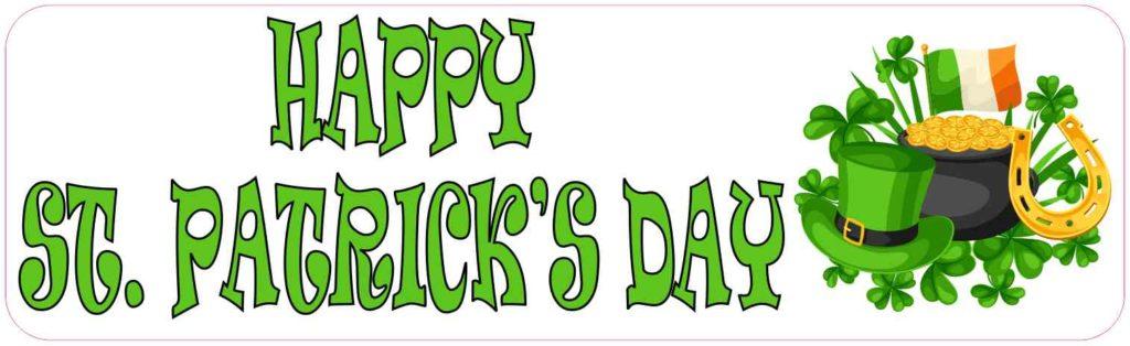 Happy St. Patrick's Day Bumper Sticker