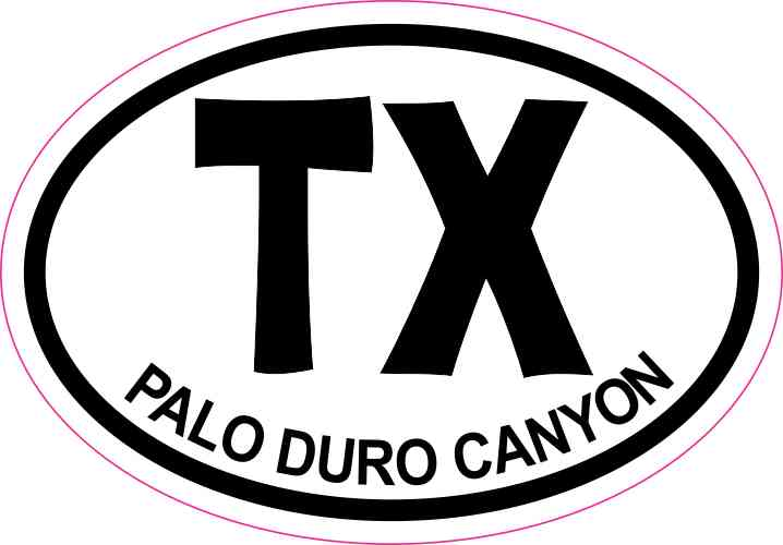 Palo Duro Canyon Texas Sticker