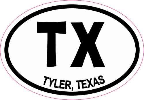 Oval TX Tyler Texas Sticker