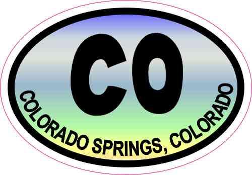 Colorful Oval CO Colorado Springs Sticker