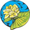 Blue Water Lily Sticker