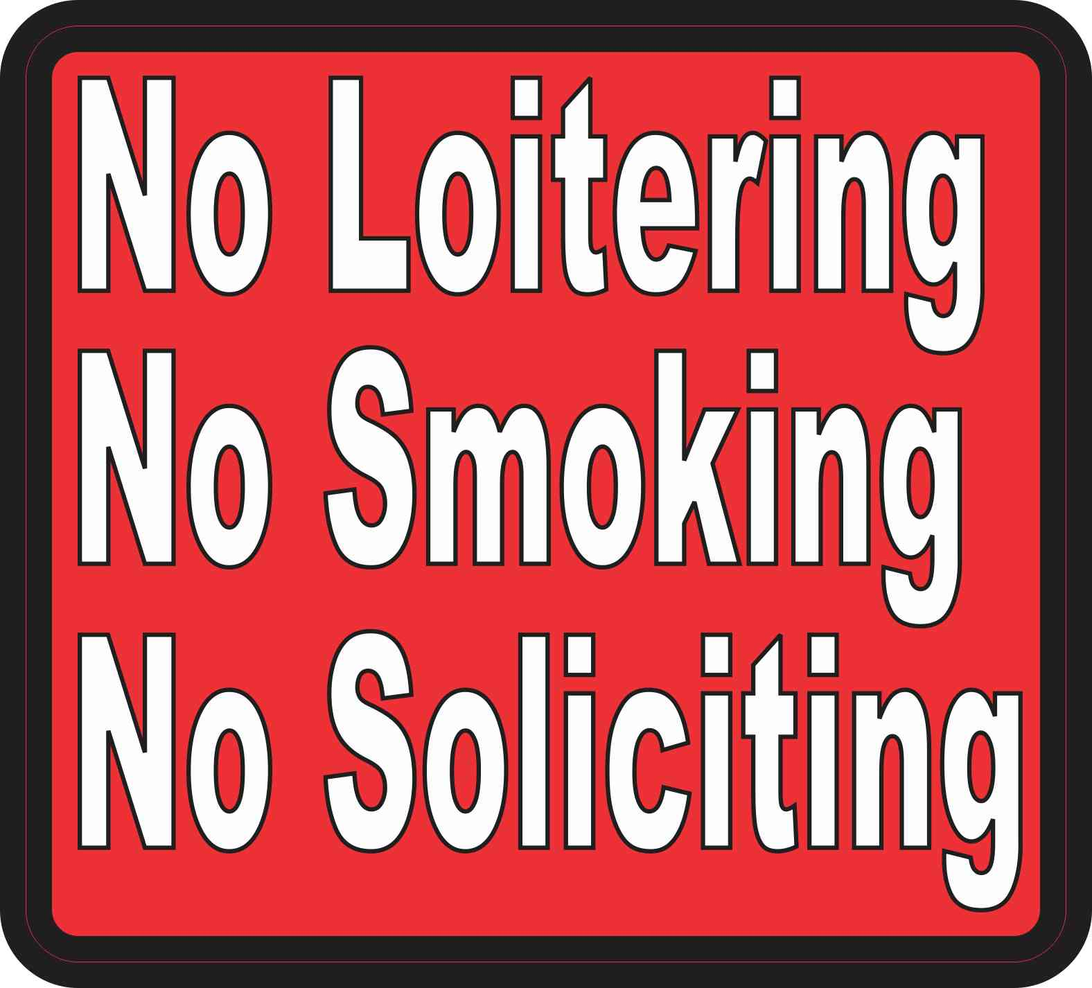 No Soliciting Sticker
