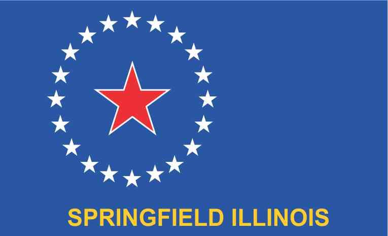 Springfield Illinois Flag Sticker