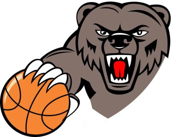 Basketball Bear Mascot Sticker