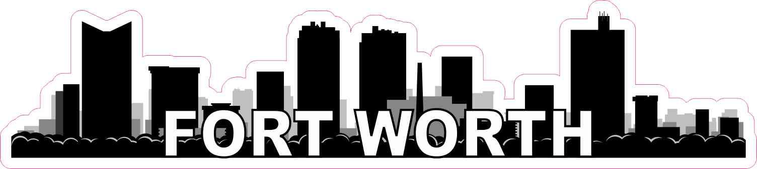 Fort Worth Skyline Sticker