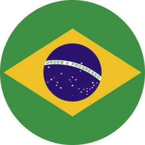 Circle Brazil Flag Sticker