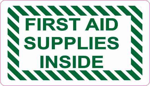 first aid supplies inside