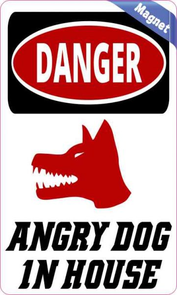 Angry Dog in House Magnet
