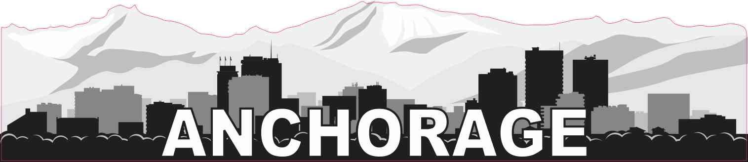 Anchorage Skyline Sticker