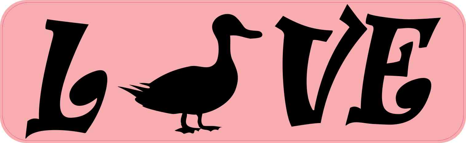 Love Duck Bumper Sticker