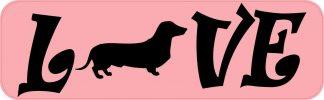 Love Dachshund Bumper Sticker