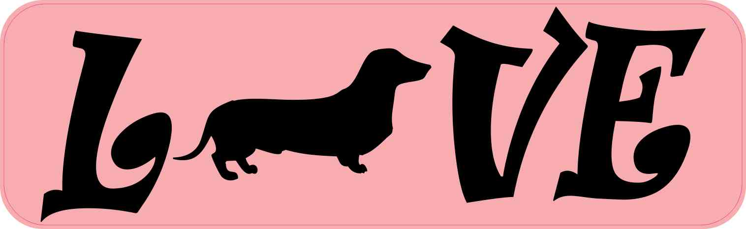 Love Dachshund Bumper Sticker