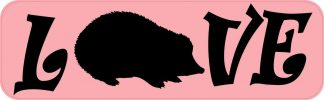 Love Hedgehog Bumper Sticker