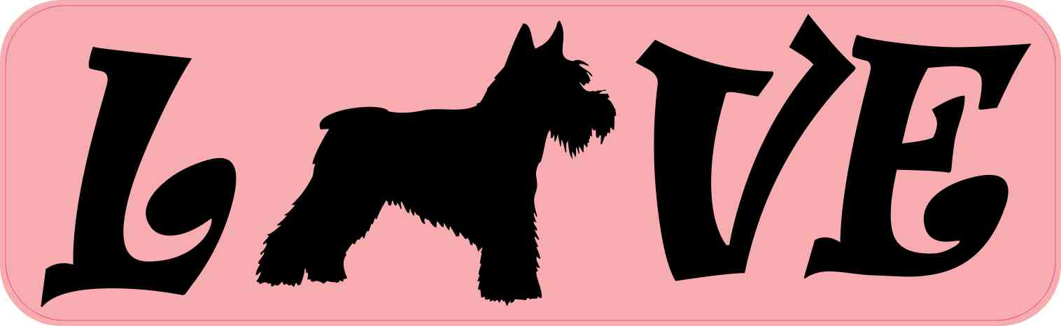 Love Schnauzer Bumper Sticker