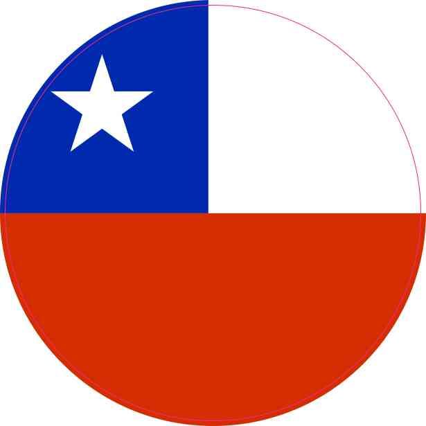 Round Chile Flag Sticker