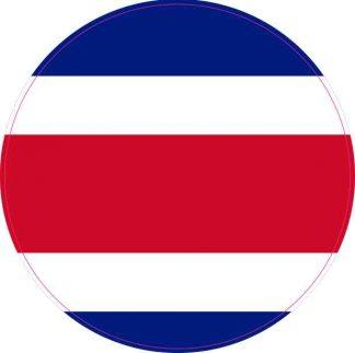 Round Costa Rica Flag Sticker