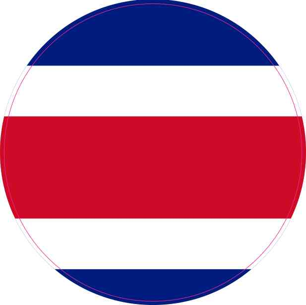 Round Costa Rica Flag Sticker