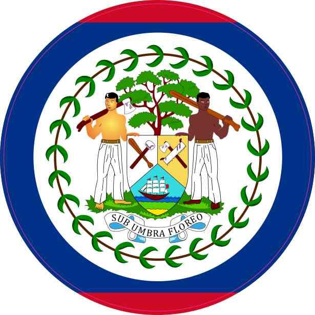 Round Belize Flag Sticker