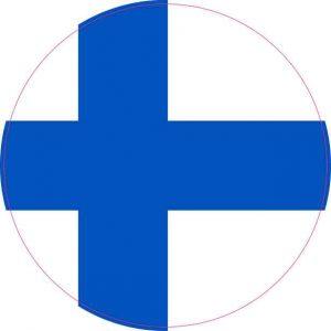Round Finland Flag Sticker