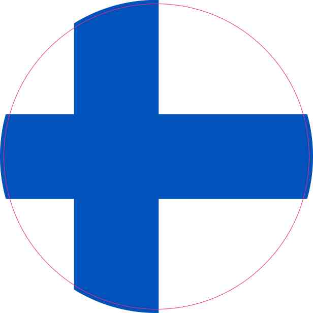 Round Finland Flag Sticker