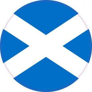 Round Scotland Flag Sticker