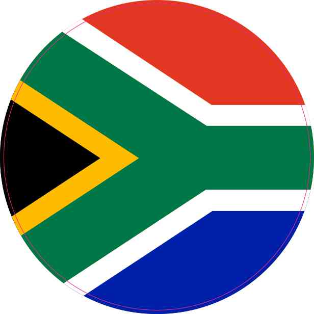 Round South Africa Flag Sticker
