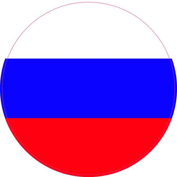 Round Russia Flag Sticker