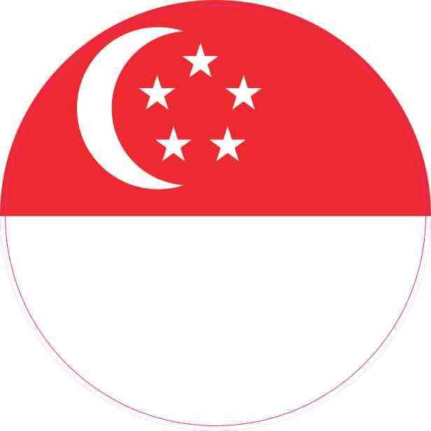 Round Singapore Flag Sticker