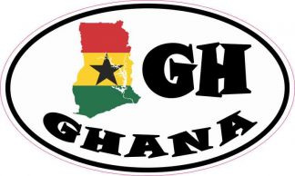 Oval GH Ghana Sticker