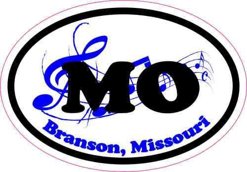 Oval Music Branson Missouri Sticker