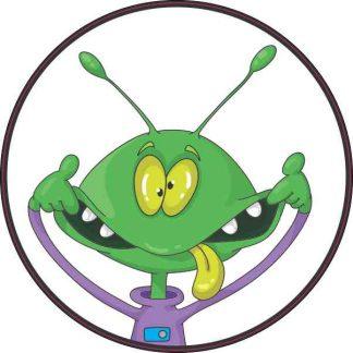 Silly Face Alien Sticker