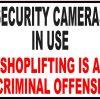 Shoplifting is a Criminal Offense Sticker