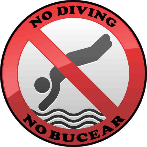 No Bucear No Diving Sticker