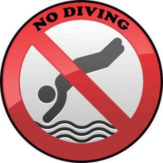 No Diving Sticker