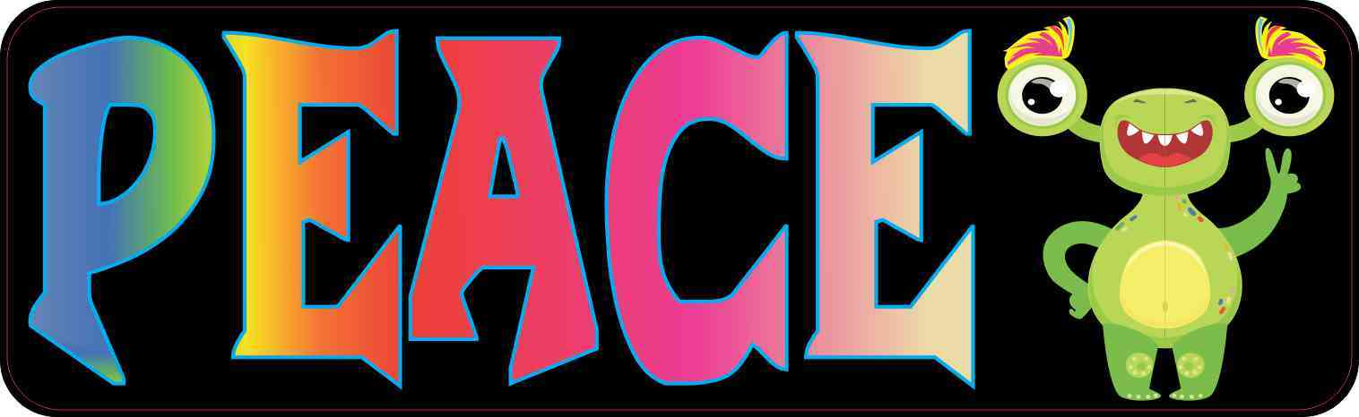 Peace Alien Bumper Sticker