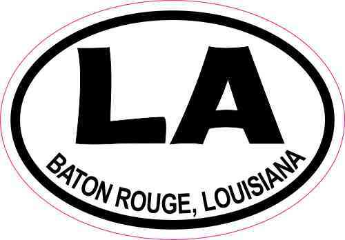 3x2 oval la baton rouge louisiana sticker travel luggage decal stickers