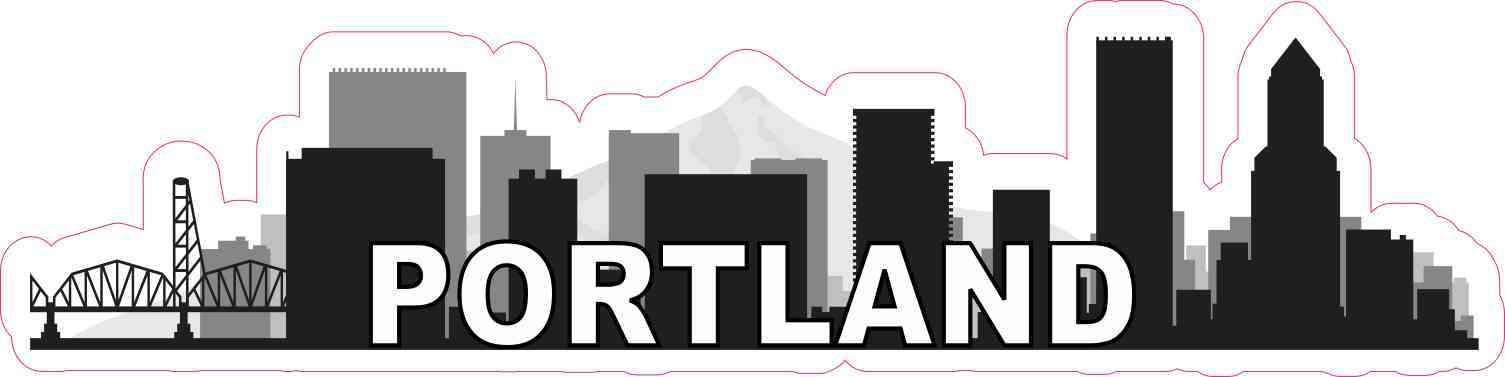 Portland Skyline Sticker