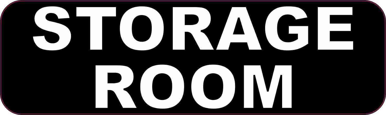 10in X 3in Storage Room Sticker Vinyl Business Door Sign