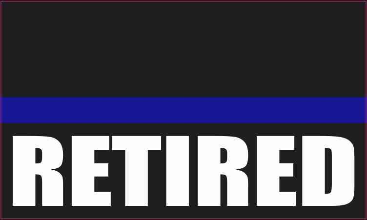 Retired Blue Lives Matter Sticker