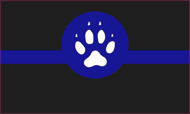 Canine Blue Lives Matter Sticker