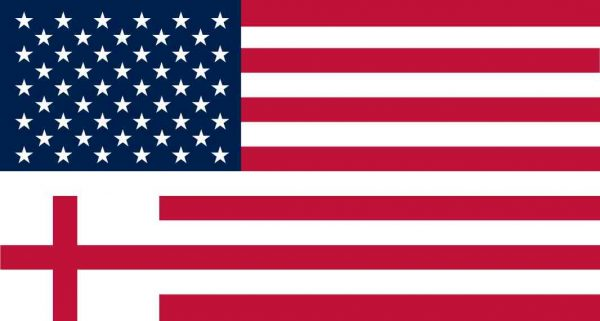 Cross American Flag Magnet