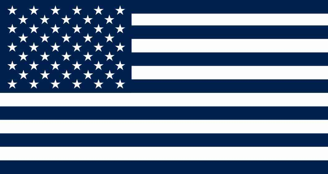 Blue and White American Flag Sticker