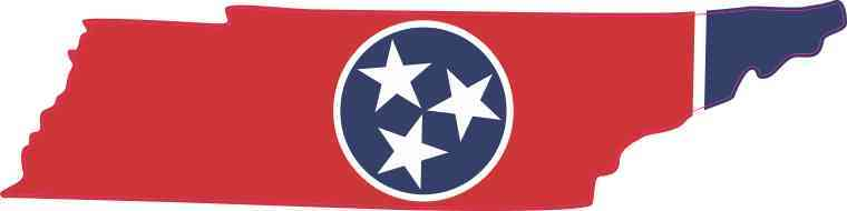 Die Cut Tennessee Sticker