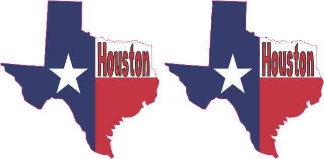 Die Cut Houston Texas Stickers